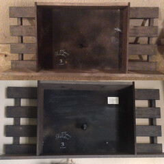 ディスプレイボックス/ディスプレイ棚/クレイ作品/DIY/雑貨/ハンドメイド リミ友の作品のディスプレイ棚💕 壁に飾り…(4枚目)