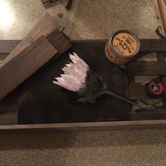 ディスプレイボックス/ディスプレイ棚/クレイ作品/DIY/雑貨/ハンドメイド リミ友の作品のディスプレイ棚💕 壁に飾り…(5枚目)