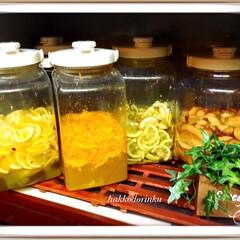 ミネラル/酵素ジュース/発酵ドリンク/フード/スイーツ/お気に入り 発酵ドリンク🥤 🍎🍊🍋 最近漬けたレモン…