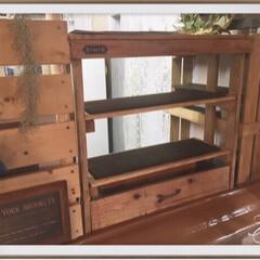飾り棚DIY/フォロー大歓迎/DIY/キッチン雑貨/雑貨/100均/... この隙間にジャストフィット🎶 隙間空間に…
