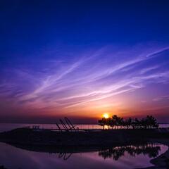 令和元年フォト投稿キャンペーン/夕日/夕焼け/マジックアワー/りんくう公園/シルエット/... りんくう公園から撮影した夕日。 マジック…