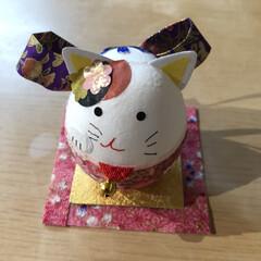 雑貨 長女が和紙で、かわいいの作ってきた❤️(1枚目)