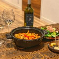お洒落/チーズ/白ワイン/スペイン料理/土鍋/パエリア/...   「土鍋パエリア」   スペイン料理 …