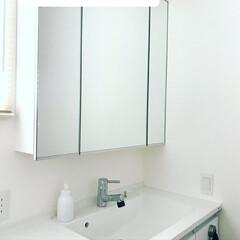 洗面所/小掃除/シンプルライフ/洗面所掃除 この「何もない」が心地よいです。  物は…
