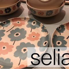 割れないカップ/プチプラ/食器/北欧柄/北欧/セリア/... セリアで見つけたバンブーファイバーのお皿…