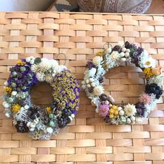花のある生活/花のある暮らし/リース作り/ハンドメイド/雑貨 ミニリースを作りました♪  小さいけれど…(1枚目)