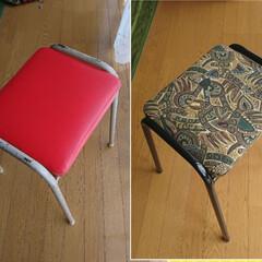椅子リメイク 35年前、嫁入り道具のミシンキャビネット…