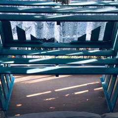 出窓リメイク/花台/出窓アレンジ/棚/ニトリ/DIY/... ニトリの2枚組スノコ 3セットで 出窓に…(3枚目)