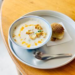 豆乳スープ/モーニング/ご飯/おでかけ/暮らし/はじめてフォト投稿/... 朝活!絶品モーニング   こんな投稿テー…(1枚目)