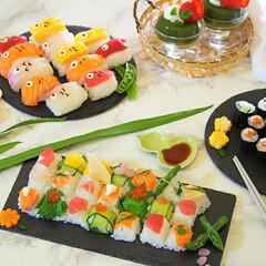鯉のぼり寿司/端午の節句/子供の日ご飯/子供の日/お家ご飯/おうちごはん/... 今年の子供の日ご飯🎏  大分過ぎてしまい…