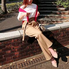 fashion/code/ファッション/コーデ/GU/グラフィッククロップドTシャツ/... GUのグラフィッククロップドTシャツ👕 …