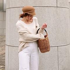 ファッション/コーデ/春コーデ/fashion/code/coordinate/... ユニクロ、3dラウンドネックセーター 正…