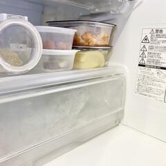 フレッシュロック 角型 1.1L(その他調理用具)を使ったクチコミ「冷蔵庫のタッパー収納で気をつけていること…」