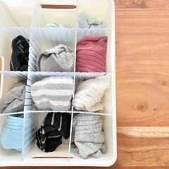 収納/衣類収納/ニトリ/無印良品/靴下収納/靴下/... 靴下収納  子供たちは家では裸足なので、…