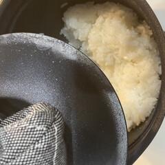 キッチン雑貨/キッチン/炊飯器/鍋炊飯/鍋ご飯 さっそく今日届いたティファールのお鍋でご…