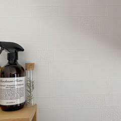 マーチソンヒューム エブリディ ファニチャースプリッツァ レフィル AWG 480ml 5206873 フジイ(部屋用)を使ったクチコミ「キッチン壁紙は真っ白ですが、実はタイル柄…」