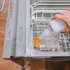 クエン酸/食洗機/キッチン 食洗機フル回転のわが家。 久々に食洗機の…