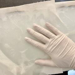 ニトリル 使い切り手袋 粉無 M(その他ネイル)を使ったクチコミ「ニトリルゴム手袋  個人的におすすめした…」