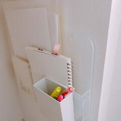 キャンドゥ/カウンター下収納/収納方法/収納アイデア/小物収納/無印良品/... カウンター下収納 * 私の仕事スペースに…(3枚目)