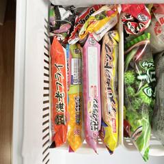 お弁当おかず/冷凍食品/冷蔵庫/冷凍庫/冷凍庫収納/冷蔵庫収納/... 冷凍食品はなるべく袋のまま保存します。 …