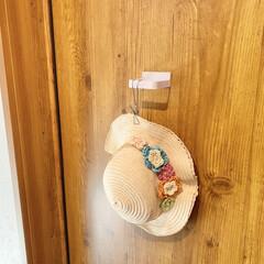 ダイソー/帽子/帽子収納/収納/雑貨/暮らし/... ダイソーマグネット傘立ては帽子収納にもお…