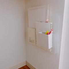 キャンドゥ/カウンター下収納/収納方法/収納アイデア/小物収納/無印良品/... カウンター下収納 * 私の仕事スペースに…(2枚目)