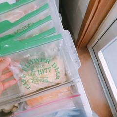 QBB とろけるチーズメニューとろけるチーズ 130g×12袋入(その他チーズ、乳製品、卵)を使ったクチコミ「冷凍庫収納上段  冷凍庫の上段は小さなジ…」