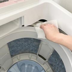 スコッティ ファイン 洗って使えるペーパータオル ボックス 40シート × 2個(その他ダイエット、健康)を使ったクチコミ「洗濯機をクリーナーを使い洗浄。 洗浄後は…」