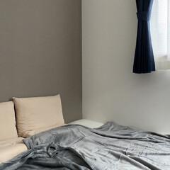 低反発敷布団 シングル (プレミアフィット 2) | ニトリ(敷き布団)を使ったクチコミ「少しずつ寝室も冬支度。  少しあたたかい…」(1枚目)