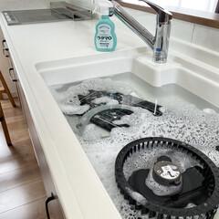 ウタマロ漬け/ウタマロクリーナー/ウタマロ/レンジフード掃除/シロッコファン掃除/レンジフード ウタマロ漬け  シロッコファンを洗いまし…