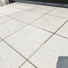 住まい/掃除/暮らし タイルデッキ掃除  庭のタイルデッキも春…(2枚目)