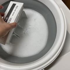 洗濯機/オキシ漬け/オキシクリーン/洗濯槽洗浄/カビ対策 洗濯槽洗浄の時は、バケツにオキシクリーン…