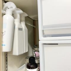 ウタマロキッチン つめかえ | ウタマロ(食器洗い、台所用洗剤)を使ったクチコミ「洗面所収納のデッドスペースは、突っ張り棒…」