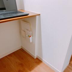 キャンドゥ/カウンター下収納/収納方法/収納アイデア/小物収納/無印良品/... カウンター下収納 * 私の仕事スペースに…