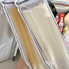 ■キューピー マヨネーズ 450g(その他調味料、料理の素、油)を使ったクチコミ「パスタ収納に使っている袋にはパスタだけで…」