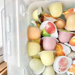 冷凍ゼリー/ゼリー/冷蔵庫/冷凍庫/冷凍庫収納/冷凍食材/... 冷凍庫収納  今の時期はアイスだけでなく…