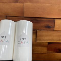 マスキングテープ 幅広 mt カモ井加工紙mt CASA テープ マットホワイト 100mmx10m MTCA1086 | エムティー(マスキングテープ)を使ったクチコミ「幅の広いマスキングテープがきました。  …」