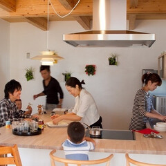 建築/キッチン/ホームパーティー/子育てを考えた家/夫婦/ライフスタイル/... さまざまなシーンにフィットする《ソラマド…