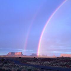 自然/ダブルレインボー/アメリカ/モニュメントバレー/虹/わたしのお気に入り わたしのお気に入りの景色です。 2年前の…