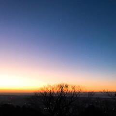 はじめてフォト投稿/風景 日の出前の空