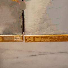 モザイクタイル プチコレガラスMIX ブルー   藤垣窯業(その他建築用タイル)を使ったクチコミ「プチコレガラスMIXモニター当選🎵 嬉し…」