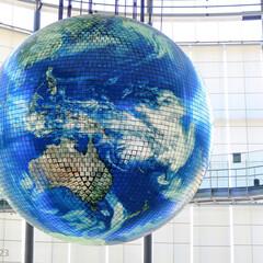 おでかけワンショット/みんなにおすすめ/地球儀/有機ELパネル/世界初/江東区/... 日本科学未来館 Geo-Cosmos(ジ…