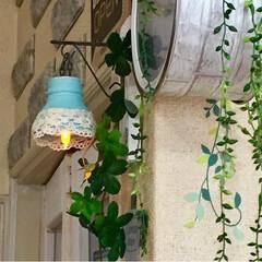 缶リメイク/カフェ風DIY/カフェ風キッチン/カフェ風/ライトDIY/スタバ風/... 小さな灯りが欲しくて蓋付きの コーヒーが…