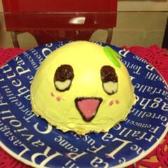 ケーキ/ふなっしー/手作りケーキ/雨季ウキフォト投稿キャンペーン/暮らし 夫がだいぶ前に作った ふなっしーケーキ💕…