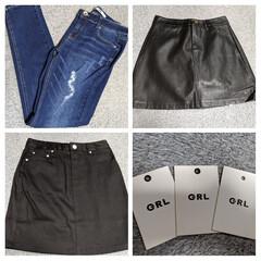 ミニスカート/デニム/洋服/フォロー大歓迎/購入品紹介/GRL グレイル購入品。デニムとミニスカートを購…