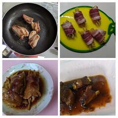 肉料理/YouTube動画 スペアリブと肉巻き生姜。生姜の巻く量が多…