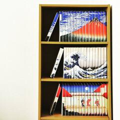 bookcover/coverstory/ブックカバー/本/本棚/収納/... 浮世絵ブックカバー。いちばんのお気に入り。