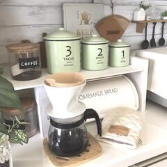 革小物/至福のひととき/キッチン雑貨/キッチン/雑貨/LIMIA手作りし隊/... いつもは、インスタントコーヒーばかりだけ…