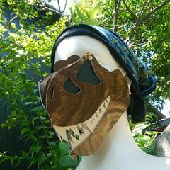 キッズ/恐竜博物館/手作りアクセ/暮らし/節約/DIY  繰り返し洗濯してよれてきたマスクを隠す…
