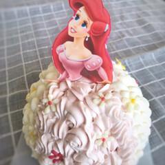 アリエル/アリエルケーキ/プリンセス/ドレスケーキ/手作りスイーツ/手作りケーキ/... お引越しするお友達へドレスケーキをプレゼ…